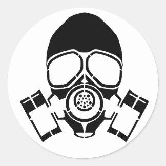 ガスマスクのステンシルロゴ ラウンドシール