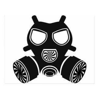 ガスマスクのベクトル 葉書き