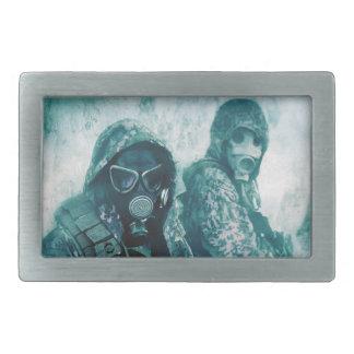 ガスマスクのベルトの留め金 長方形ベルトバックル