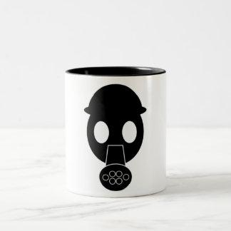 ガスマスクのマグ ツートーンマグカップ