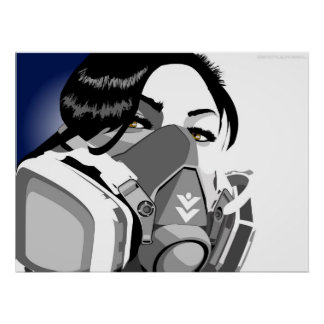 ガスマスクの女の子 ポスター