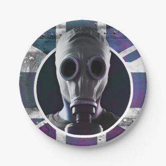 ガスマスクの紙皿 ペーパープレート