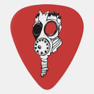 ガスマスク ギターピック