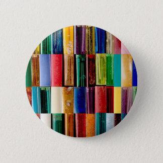 ガスライターは創造的な抽象美術のコラージュを殻から取り出します 5.7CM 丸型バッジ