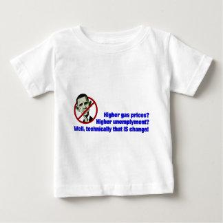 ガス代のオバマのより高い軽いワイシャツ ベビーTシャツ