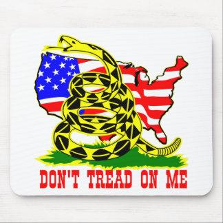 ガズデンのヘビは米国の旗との私で踏みません マウスパッド