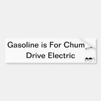 ガソリンはばかのためです バンパーステッカー