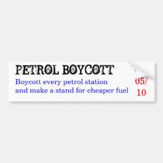ガソリンボイコットは、あらゆるガソリンスタンドを…ボイコットします バンパーステッカー