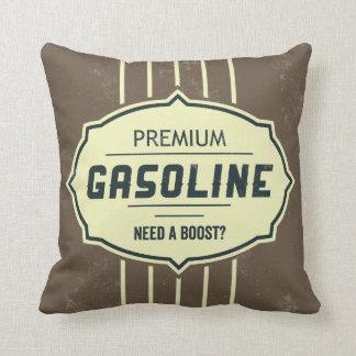 ガソリンレトロのラベルデザイナーアクセントの枕 クッション