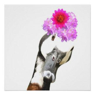 ガチョウのかわいい家畜のベビーの子供部屋の子供部屋 ポスター