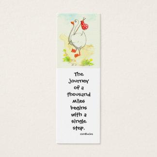 「ガチョウ」の感動的なしおり スキニー名刺