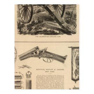 ガトリング砲の会社Schuyler、Hartleyおよびグラハム ポストカード