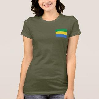ガボンの旗および地図dkのTシャツ Tシャツ