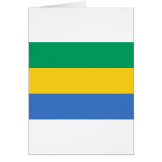 ガボンの旗 カード