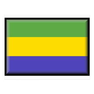 ガボンの旗 ポストカード