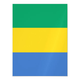 ガボンの旗 マグネットカード