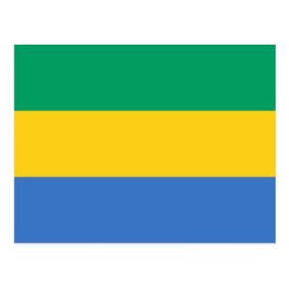ガボンの旗GAカボン共和国 ポストカード