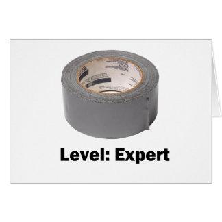 ガムテープのレベルの専門家 グリーティングカード