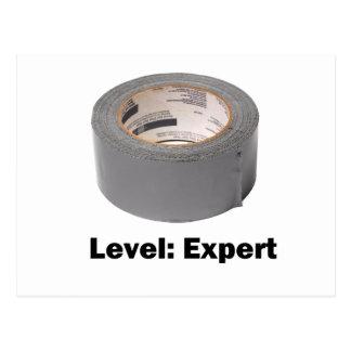 ガムテープのレベルの専門家 ポストカード