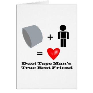 ガムテープの人で親友の便利屋のユーモア グリーティングカード