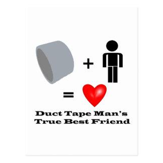 ガムテープの人で親友の便利屋のユーモア ポストカード