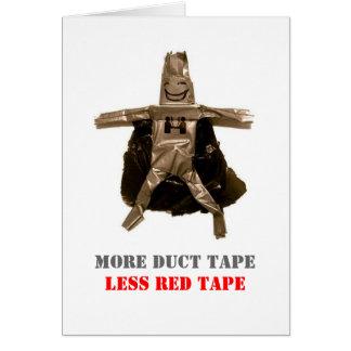 ガムテープの人の挨拶状 グリーティングカード