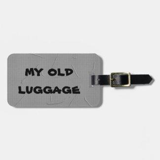 ガムテープの荷物のラベル ラゲッジタグ