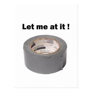 ガムテープはそれで私を可能にしました ポストカード