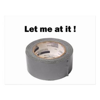 ガムテープはそれで私を可能にしました 葉書き