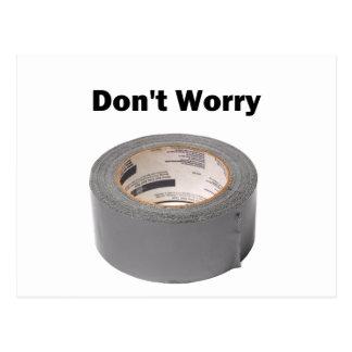 ガムテープは心配しません ポストカード