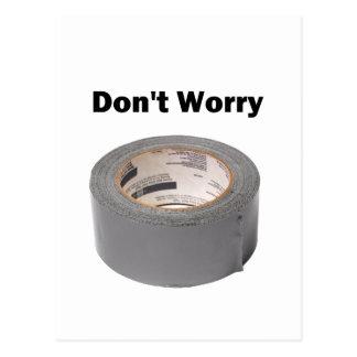 ガムテープは心配しません 葉書き