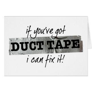 ガムテープを持っていれば私はそれを修理してもいいです! カード