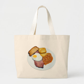 ガモンの卵および豆 ラージトートバッグ