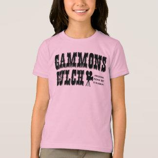 ガモンの渓谷の映画のセットの青年Tシャツ Tシャツ