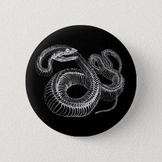 ガラガラヘビの骨組 5.7CM 丸型バッジ