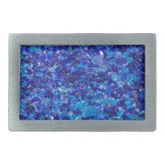 ガラスが付いている芸術的創作品 長方形ベルトバックル