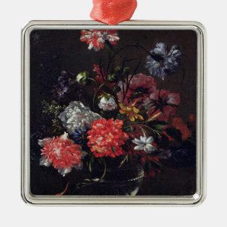 ガラスつぼの花 メタルオーナメント