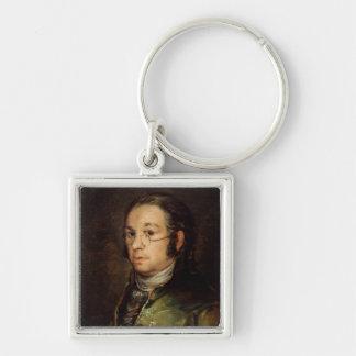 ガラスとの自画像、1788-98年 キーホルダー