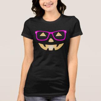 ガラスのカスタマイズ可能なTシャツとのハロウィーンのカボチャのちょうちん Tシャツ
