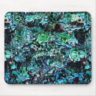 ガラスのターコイズの庭 マウスパッド