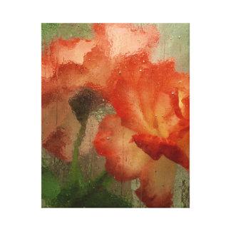 ガラスの後ろのバラのキャンバスプリント キャンバスプリント