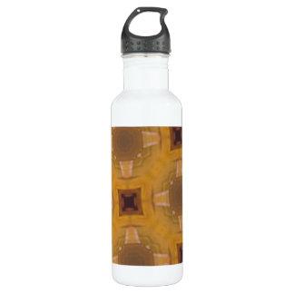 ガラスの抽象的なパターン ウォーターボトル