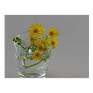 ガラスの黄色い花 ポストカード