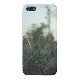 ガラスひび: 無光沢の終わりのiPhone 5/5Sの場合 iPhone 5 Cover