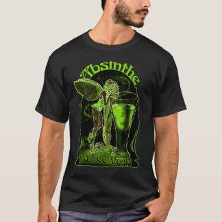 ガラスを持つアブサンのLa料金のVerteの妖精 Tシャツ