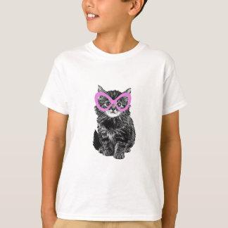 ガラスを持つ猫 Tシャツ