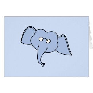 ガラスを持つ青い象。 漫画 カード