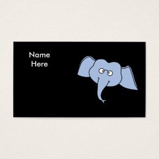 ガラスを持つ青い象。 漫画 名刺