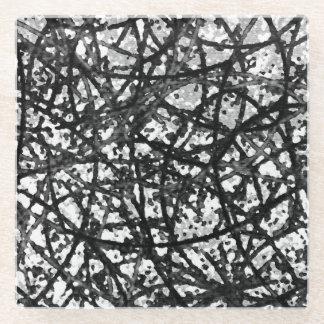 ガラスコースターのグランジな芸術の抽象芸術 ガラスコースター
