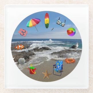 ガラスコースターのビーチ、ビーチ項目との海 ガラスコースター